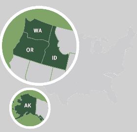 Evergreen Business Capital Regions Map